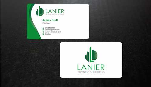 Lanier logo stationery Business Cards and Stationery  Draft # 234 by Dawson