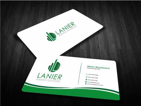 Lanier logo stationery Business Cards and Stationery  Draft # 235 by Dawson