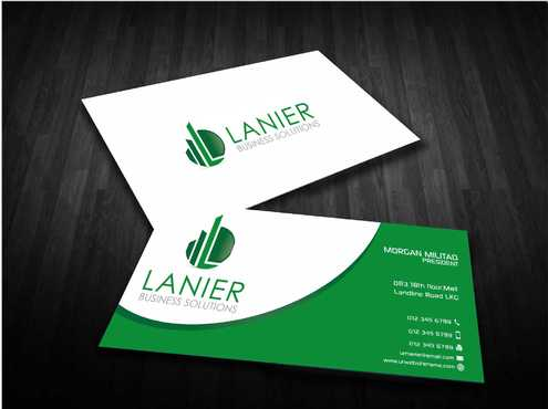 Lanier logo stationery Business Cards and Stationery  Draft # 236 by Dawson