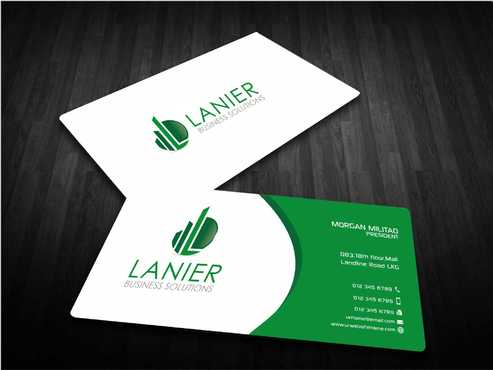 Lanier logo stationery Business Cards and Stationery  Draft # 237 by Dawson