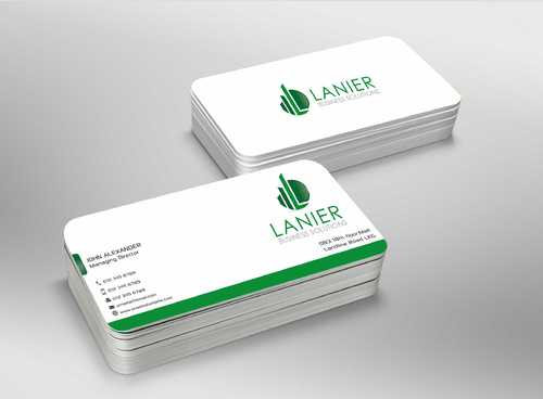 Lanier logo stationery Business Cards and Stationery  Draft # 240 by Dawson