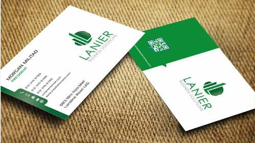 Lanier logo stationery Business Cards and Stationery  Draft # 242 by Dawson