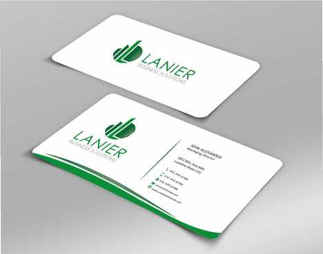 Lanier logo stationery Business Cards and Stationery  Draft # 244 by Dawson