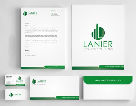 Lanier logo stationery Business Cards and Stationery  Draft # 248 by Dawson