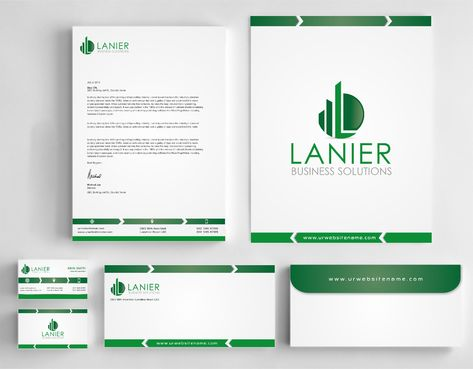 Lanier logo stationery Business Cards and Stationery  Draft # 247 by Dawson