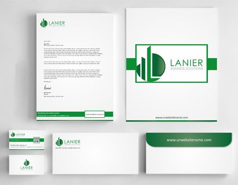 Lanier logo stationery Business Cards and Stationery  Draft # 250 by Dawson