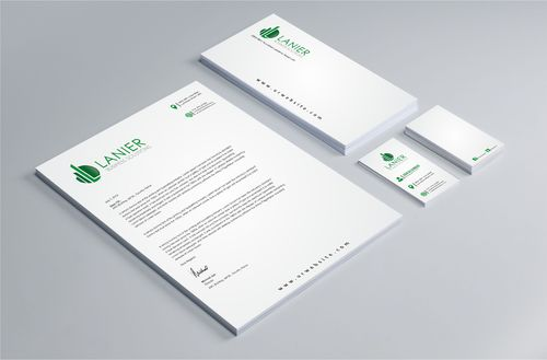 Lanier logo stationery Business Cards and Stationery  Draft # 249 by Dawson