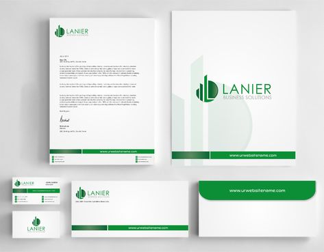 Lanier logo stationery Business Cards and Stationery  Draft # 252 by Dawson