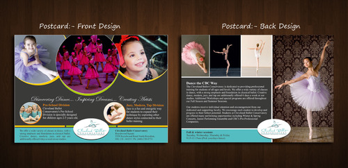Ballet School Postcard Marketing collateral  Draft # 1 by Naqshbd