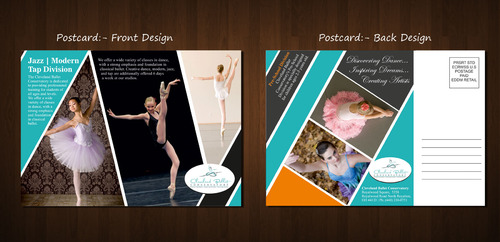 Ballet School Postcard Marketing collateral  Draft # 2 by Naqshbd