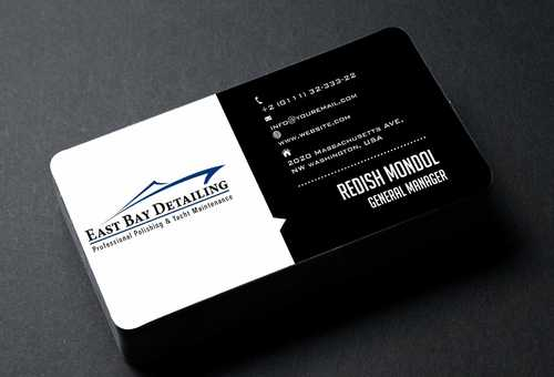 East bay detailing Business Cards and Stationery  Draft # 194 by Dawson
