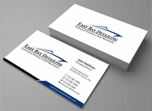 East bay detailing Business Cards and Stationery  Draft # 196 by Dawson