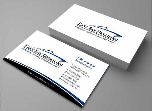 East bay detailing Business Cards and Stationery  Draft # 197 by Dawson