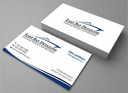 East bay detailing Business Cards and Stationery  Draft # 198 by Dawson