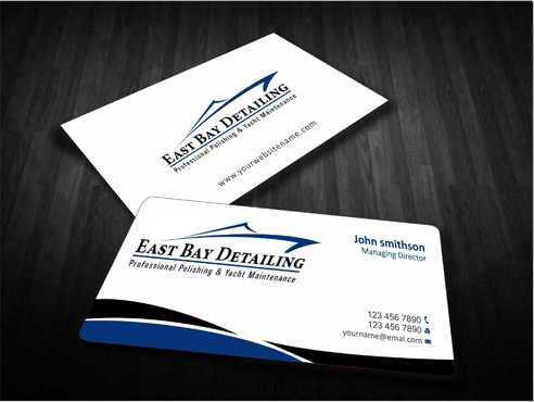 East bay detailing Business Cards and Stationery  Draft # 199 by Dawson