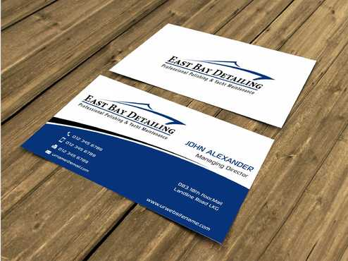 East bay detailing Business Cards and Stationery  Draft # 200 by Dawson
