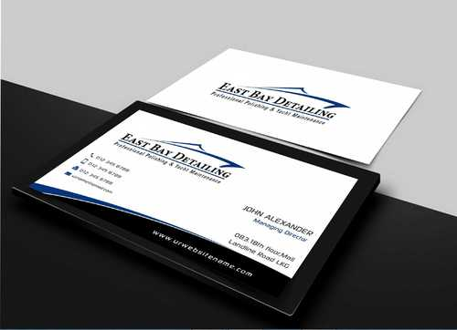 East bay detailing Business Cards and Stationery  Draft # 201 by Dawson