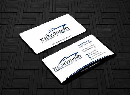 East bay detailing Business Cards and Stationery  Draft # 203 by Dawson