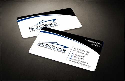 East bay detailing Business Cards and Stationery  Draft # 206 by Dawson