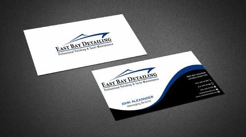East bay detailing Business Cards and Stationery  Draft # 217 by Dawson