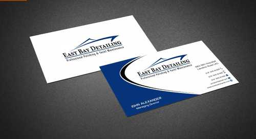 East bay detailing Business Cards and Stationery  Draft # 218 by Dawson