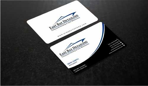 East bay detailing Business Cards and Stationery  Draft # 225 by Dawson