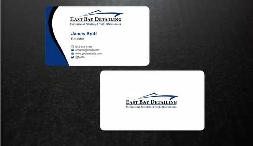 East bay detailing Business Cards and Stationery  Draft # 230 by Dawson