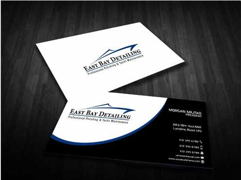 East bay detailing Business Cards and Stationery  Draft # 233 by Dawson