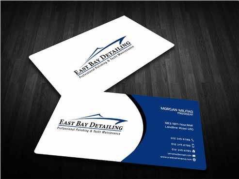 East bay detailing Business Cards and Stationery  Draft # 234 by Dawson