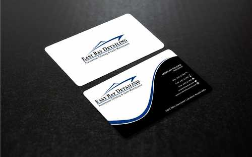 East bay detailing Business Cards and Stationery  Draft # 235 by Dawson