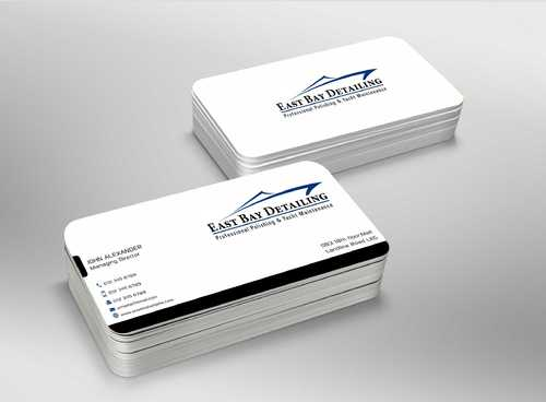 East bay detailing Business Cards and Stationery  Draft # 237 by Dawson