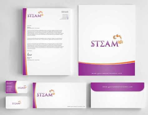 STEAMd Inc.  (Science, Technology, Engineering, Arts & Math development) Business Cards and Stationery  Draft # 236 by Dawson