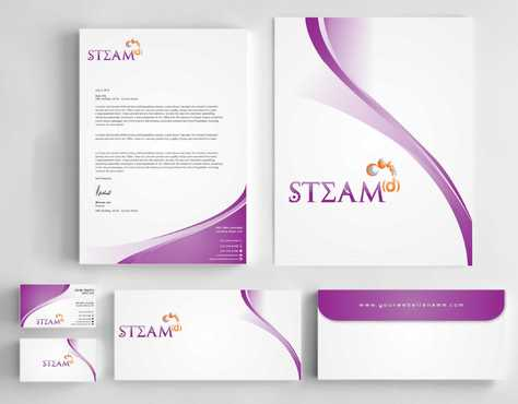 STEAMd Inc.  (Science, Technology, Engineering, Arts & Math development) Business Cards and Stationery  Draft # 239 by Dawson