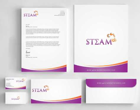 STEAMd Inc.  (Science, Technology, Engineering, Arts & Math development) Business Cards and Stationery  Draft # 241 by Dawson