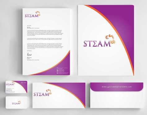 STEAMd Inc.  (Science, Technology, Engineering, Arts & Math development) Business Cards and Stationery  Draft # 243 by Dawson