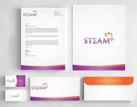 STEAMd Inc.  (Science, Technology, Engineering, Arts & Math development) Business Cards and Stationery  Draft # 244 by Dawson