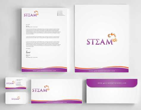 STEAMd Inc.  (Science, Technology, Engineering, Arts & Math development) Business Cards and Stationery  Draft # 247 by Dawson