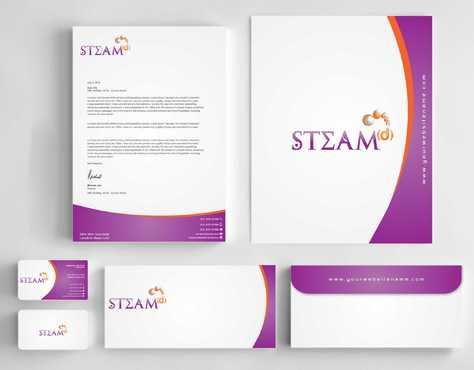 STEAMd Inc.  (Science, Technology, Engineering, Arts & Math development) Business Cards and Stationery  Draft # 249 by Dawson