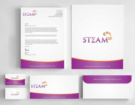 STEAMd Inc.  (Science, Technology, Engineering, Arts & Math development) Business Cards and Stationery  Draft # 250 by Dawson