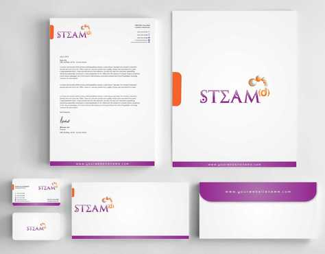 STEAMd Inc.  (Science, Technology, Engineering, Arts & Math development) Business Cards and Stationery  Draft # 251 by Dawson