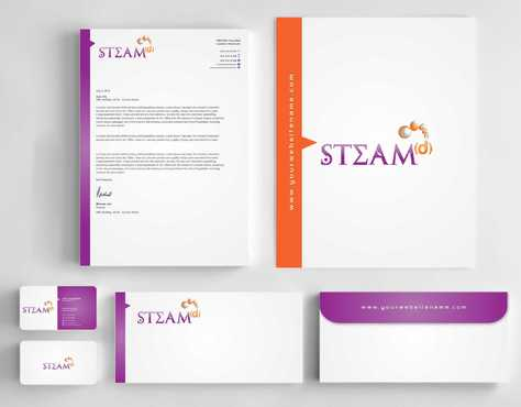 STEAMd Inc.  (Science, Technology, Engineering, Arts & Math development) Business Cards and Stationery  Draft # 252 by Dawson