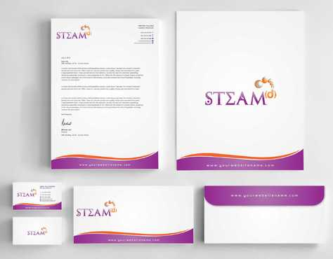 STEAMd Inc.  (Science, Technology, Engineering, Arts & Math development) Business Cards and Stationery  Draft # 257 by Dawson