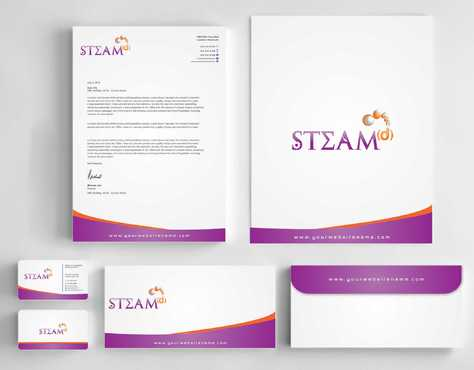 STEAMd Inc.  (Science, Technology, Engineering, Arts & Math development) Business Cards and Stationery  Draft # 258 by Dawson
