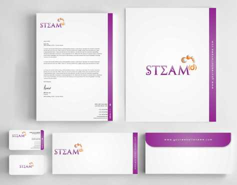 STEAMd Inc.  (Science, Technology, Engineering, Arts & Math development) Business Cards and Stationery  Draft # 260 by Dawson