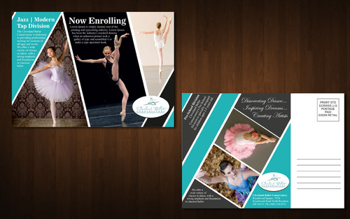 Ballet School Postcard Marketing collateral  Draft # 15 by Naqshbd