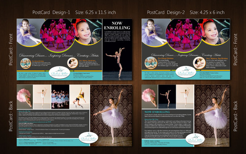 Ballet School Postcard Marketing collateral  Draft # 16 by Naqshbd
