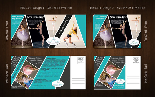 Ballet School Postcard Marketing collateral  Draft # 17 by Naqshbd
