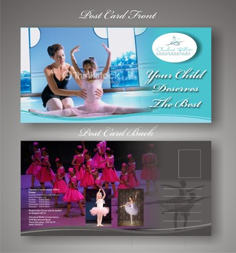 Ballet School Postcard Marketing collateral  Draft # 19 by syukurkurnia