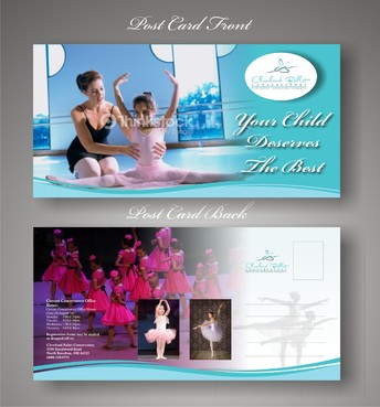 Ballet School Postcard Marketing collateral  Draft # 20 by syukurkurnia