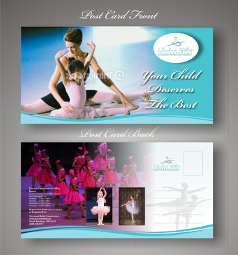 Ballet School Postcard Marketing collateral  Draft # 22 by syukurkurnia